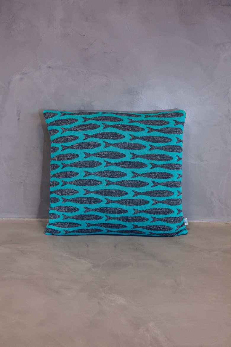 big cushion sardinha blue