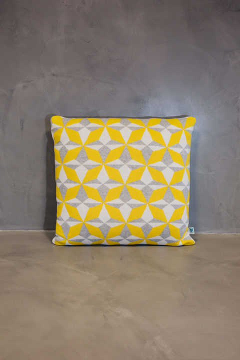normal cushion azulejo lisboa yellow