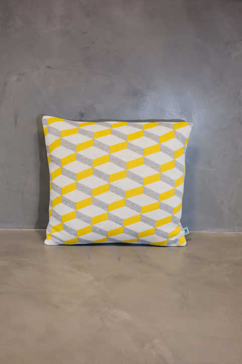 normal cushion azulejo aveiro yellow